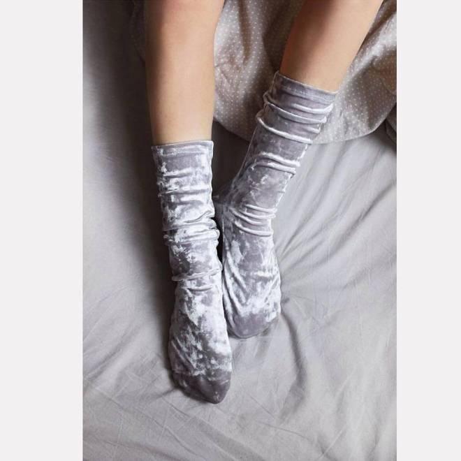 Chaussettes en velours
