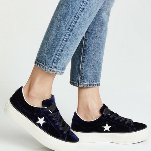 9ddb85c4ebe0 Sneakers de la semaine   la One Star Platform Velours de Converse ...