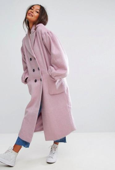 Manteau à manches exagérées asos