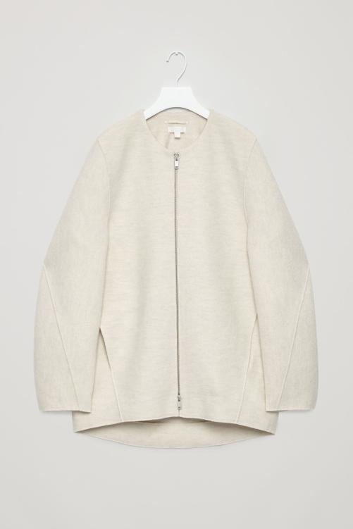 manteau en laine blanc cos