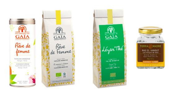 Sélection de thés et produits Gaia
