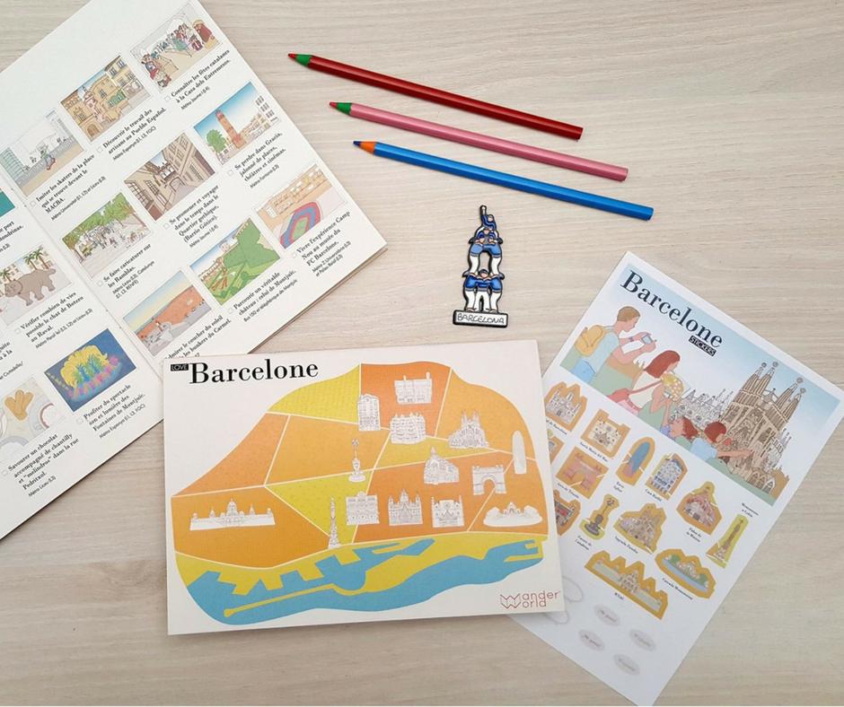 Wanderlandmap-carnet-voyage-enfant-ludique-barcelone-cadeau