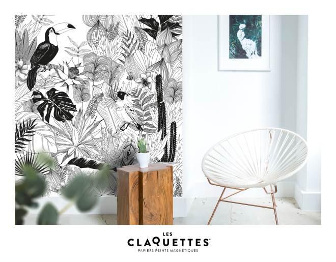 Les Claquettes papier peint magnétique décoration7