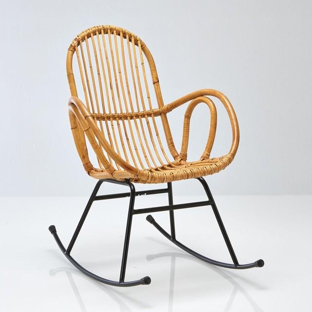 rocking chair en rotin la redoute