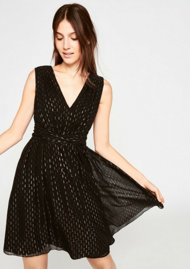 tenue-mariage-invite-femme-robe-tara-jarmon-noir