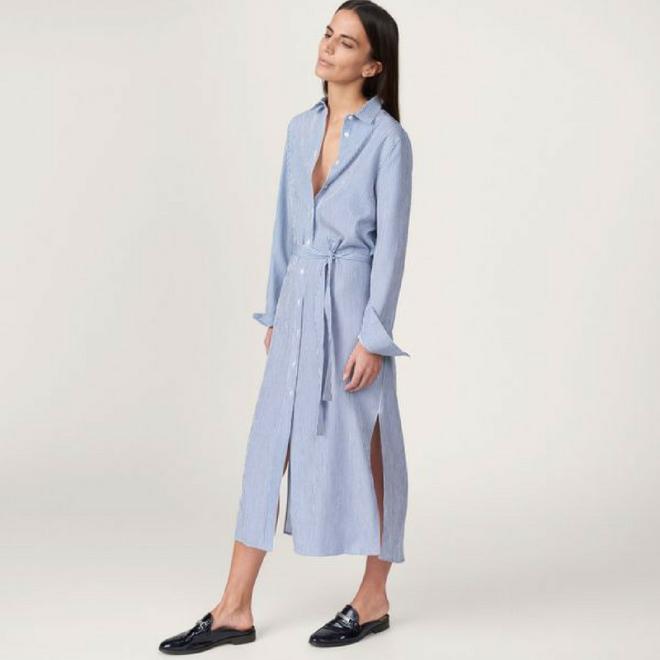 gant-robe-chemise-gaufré-rayures