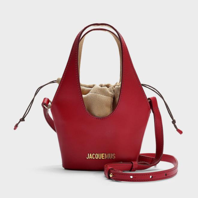 le-carino-mini-sac-jacquemus-veau-rouge