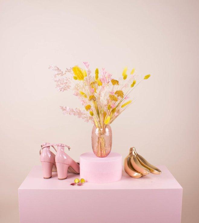 Bouquet fleurs sechées pampa