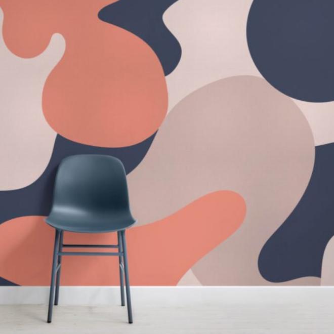 muralswallpaper-papier-peint-camouflage-corail-pantone-2019