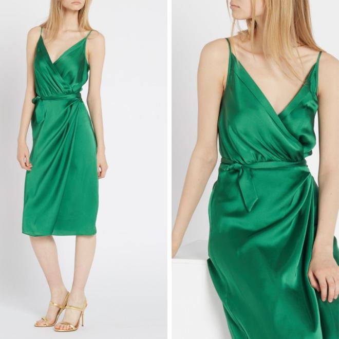 tenue-robe-invitée-mariage-vert-satin-zendaya-tommy-hilfiger