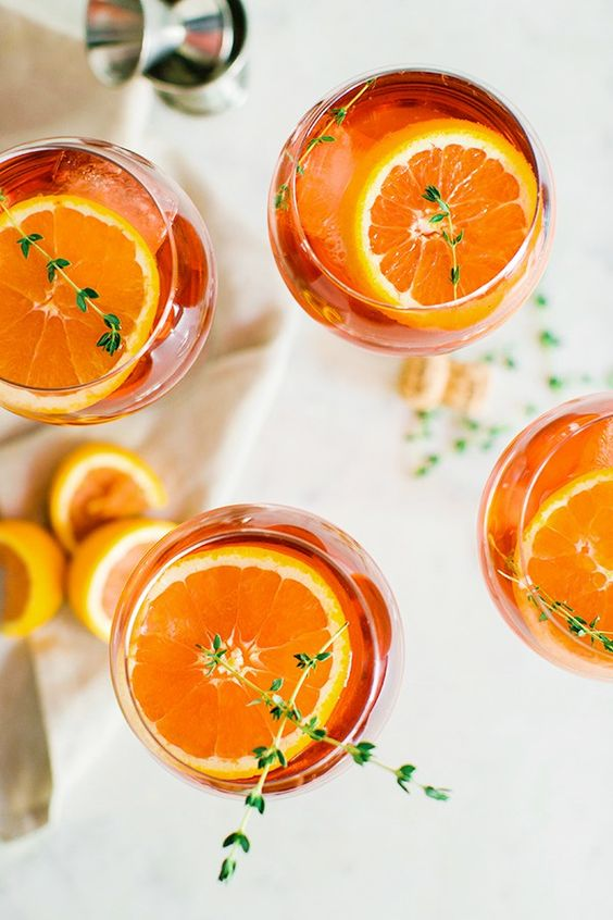 Aperol Spritz cocktail orange