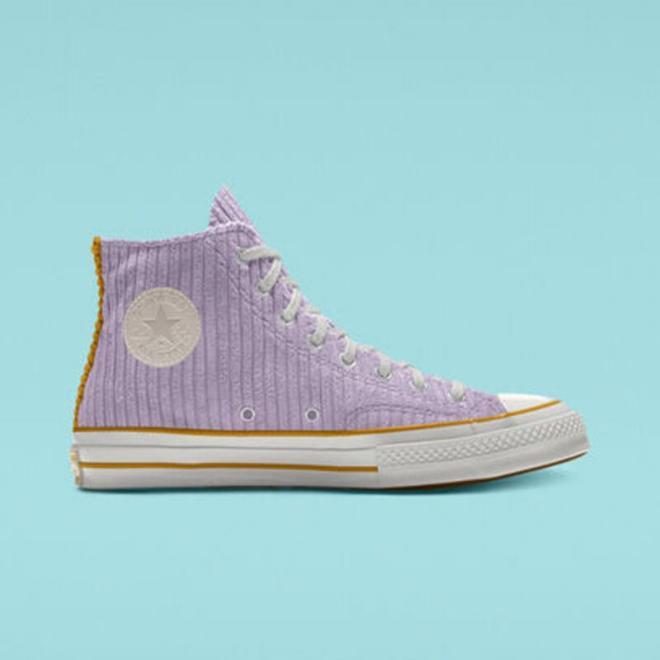 sneakers-lilas-lilac-mauve-converse-chuck-70-corduroy-high-top-custom
