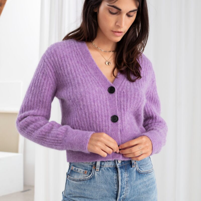 tendance-lilas-mauve-mode-and-others-stories-cardigan-maille