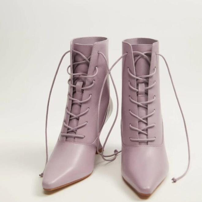 tendance-lilas-mauve-mode-bottines-chaussures-lacets-talons