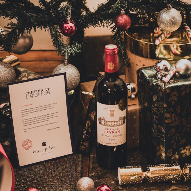 cadeaux-noel-gourmand-cuvée-privée-vin-pied-de-vigne-adopter