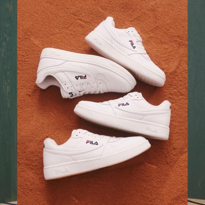 sneakers-blanches-fila-tartan-arcade